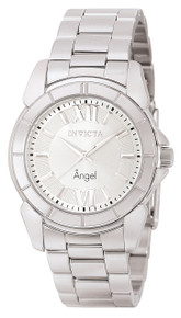 Invicta Women's 0457 Angel Quartz 3 Hand Silver Dial Watch