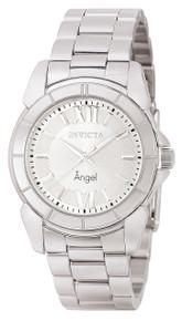 Invicta Women's 0457 Angel Quartz 3 Hand Silver Dial Watch
