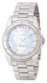 Invicta Women's 0458 Angel Quartz 3 Hand White Dial Watch