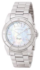 Invicta Women's 0458 Angel Quartz 3 Hand White Dial Watch