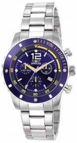 Invicta Men's 1246 Specialty Quartz 3 Hand Blue Dial Watch