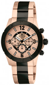 Invicta Men's 1424 Specialty Quartz Chronograph Rose Gold Dial Watch