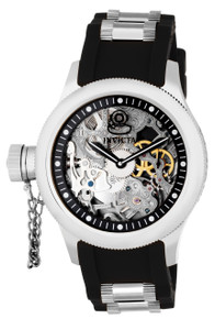 Invicta Men's 1843 Russian Diver Mechanical 3 Hand Black Dial Watch