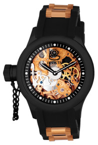 Invicta Men's 1847 Russian Diver Mechanical 3 Hand Black Dial Watch
