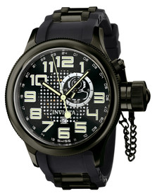 Invicta Men's 5861 Russian Diver Quartz GMT Black Dial Watch