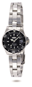 Invicta Women's 8939 Pro Diver Quartz 3 Hand Black Dial Watch