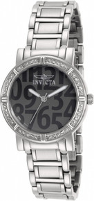 Invicta Women's 10676 Wildflower Quartz 3 Hand Dark Grey Dial Watch