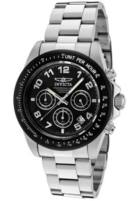 Invicta Men's 10701 Speedway Quartz Chronograph Black Dial Watch