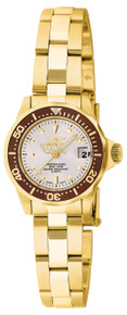 Invicta Women's 11444 Pro Diver Quartz 3 Hand White Dial Watch