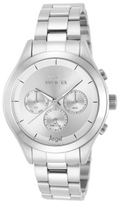 Invicta Women's 12465 Angel Quartz Chronograph Silver Dial Watch