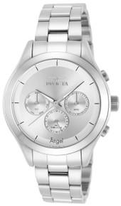 Invicta Women's 12465 Angel Quartz Chronograph Silver Dial Watch