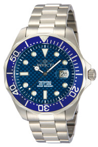 Invicta Men's 12563 Pro Diver Quartz 3 Hand Blue Dial Watch