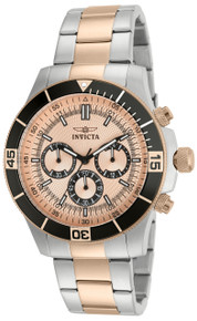 Invicta Men's 12842 Specialty Quartz Chronograph Rose Gold Dial Watch