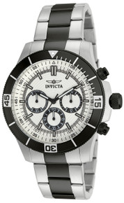 Invicta Men's 12843 Specialty Quartz Chronograph Silver Dial Watch