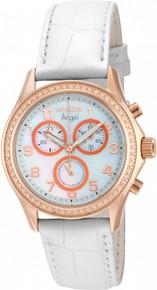 Invicta Women's 12991 Angel Quartz Chronograph White Dial Watch