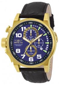 Invicta Unisex 13055 I-Force Quartz 3 Hand Blue Dial Watch