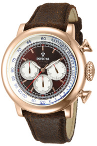 Invicta Men's 13059 Vintage Quartz 3 Hand Brown Dial Watch