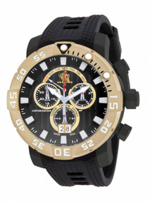 Invicta Men's 14254 Sea Base Quartz Multifunction Black, White Dial Watch