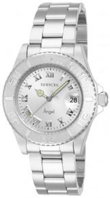 Invicta Women's 14320 Angel Quartz 3 Hand Silver Dial Watch