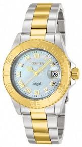 Invicta Women's 14364 Angel Quartz 3 Hand White Dial Watch