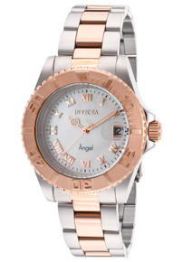 Invicta Women's 14367 Angel Quartz 3 Hand White Dial Watch