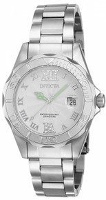 Invicta Women's 14790 Pro Diver Quartz 3 Hand White Dial Watch