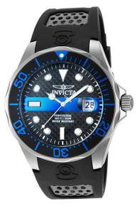 Invicta Men's 14838 Pro Diver Quartz 3 Hand Black, Blue Dial Watch