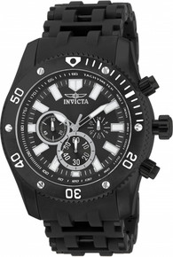 Invicta Men's 14862 Sea Spider Quartz Chronograph Black Dial Watch