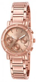 Invicta Women's 14874 Wildflower Quartz 3 Hand Rose Gold Dial Watch