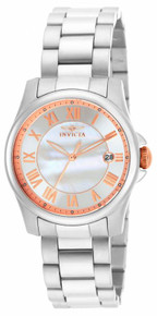 Invicta Women's 15234 Angel Quartz 3 Hand White Dial Watch