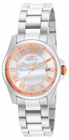 Invicta Women's 15234 Angel Quartz 3 Hand White Dial Watch