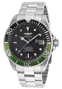 Invicta Men's 15586 Pro Diver Automatic 3 Hand Black Dial Watch