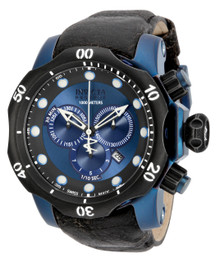 Invicta Men's 15988 Venom Quartz Chronograph Black, Blue Dial Watch