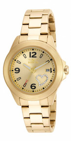 Invicta Women's 16327 Specialty Quartz 3 Hand Gold Dial Watch