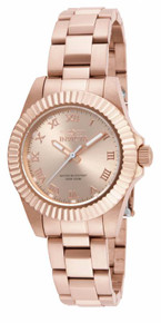 Invicta Women's 16763 Pro Diver Quartz 3 Hand Rose Gold Dial Watch