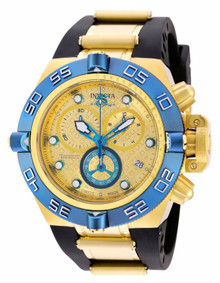Invicta Men's 16983 Subaqua Quartz 3 Hand Blue, Gold Dial Watch