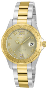 Invicta Women's 17021 Pro Diver Quartz 3 Hand Champagne Dial Watch