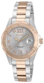 Invicta Women's 17022 Pro Diver Quartz 3 Hand Light Grey Dial Watch