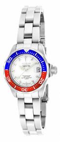 Invicta Women's 17033 Pro Diver Quartz 3 Hand Silver Dial Watch