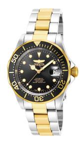 Invicta Men's 17043 Pro Diver Automatic 3 Hand Black Dial Watch