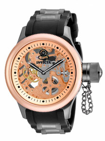Invicta Men's 17274 Russian Diver Mechanical 2 Hand Rose Gold Dial Watch