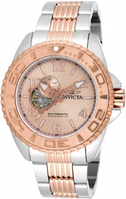 Invicta Men's 17462 Pro Diver Automatic 3 Hand Rose Gold Dial Watch