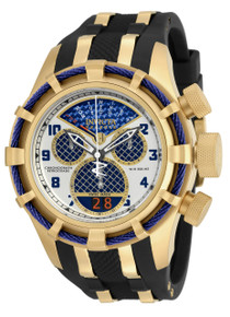 Invicta Men's 17465 Bolt Quartz Chronograph Blue, Silver Dial Watch