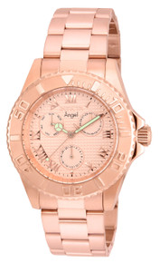 Invicta Women's 17525 Angel Quartz Chronograph Rose Gold Dial Watch