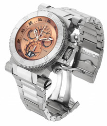 Invicta Men's 17641 Coalition Forces Quartz Chronograph Rose Gold Dial Watch
