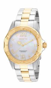 Invicta Women's 17871 Pro Diver Quartz 3 Hand White Dial Watch