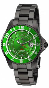 Invicta Women's 18249 Pro Diver Quartz 3 Hand Green Dial Watch