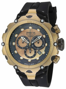 Invicta Men's 18452 Venom Quartz Chronograph Grey, Gold Dial Watch