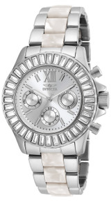 Invicta Women's 18867 Angel Quartz Chronograph Silver Dial Watch