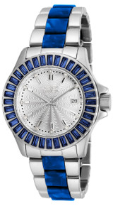 Invicta Women's 18876 Angel Quartz 3 Hand Silver Dial Watch